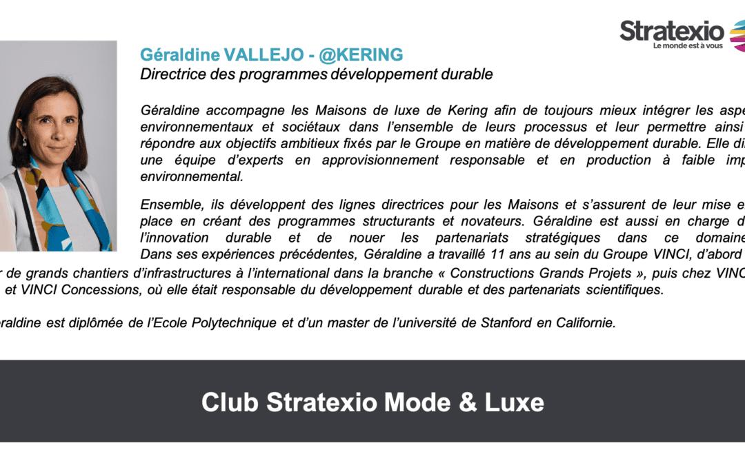 Inter-Clubs avec le témoignage de Géraldine VALLEJO (@KERING)